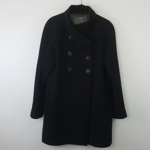 J. Crew black wool coat size 0